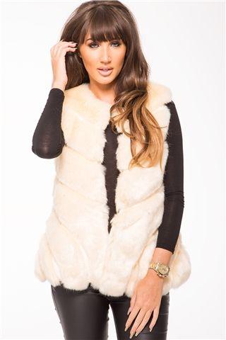 c92021e0dc974 Megan McKenna Beige Faux Fur Gilet   for me 3   Fur, Faux fur gilet ...
