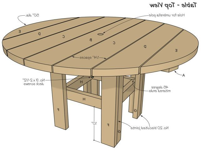 round patio table diy