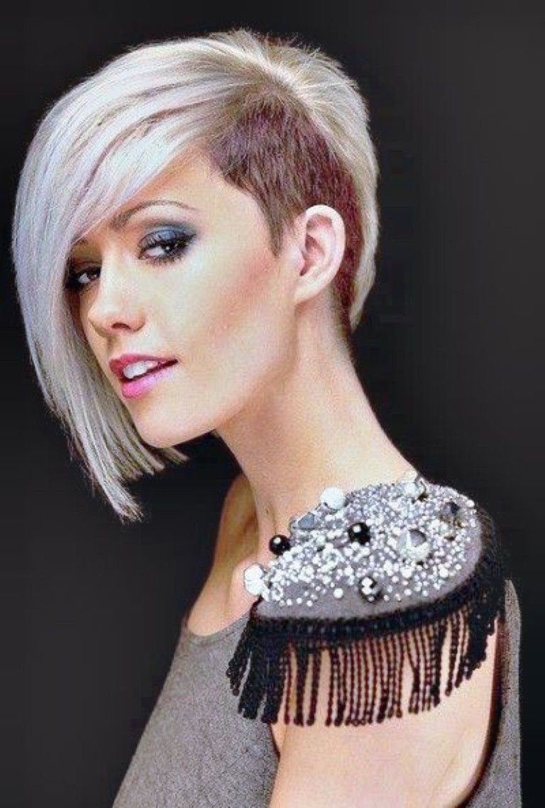 Female short hair shaved head