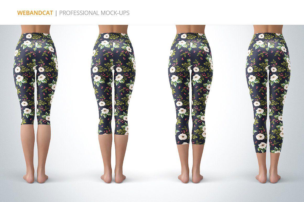 Capri Leggings Mock-up #photoshop#Leggings#Mock#check