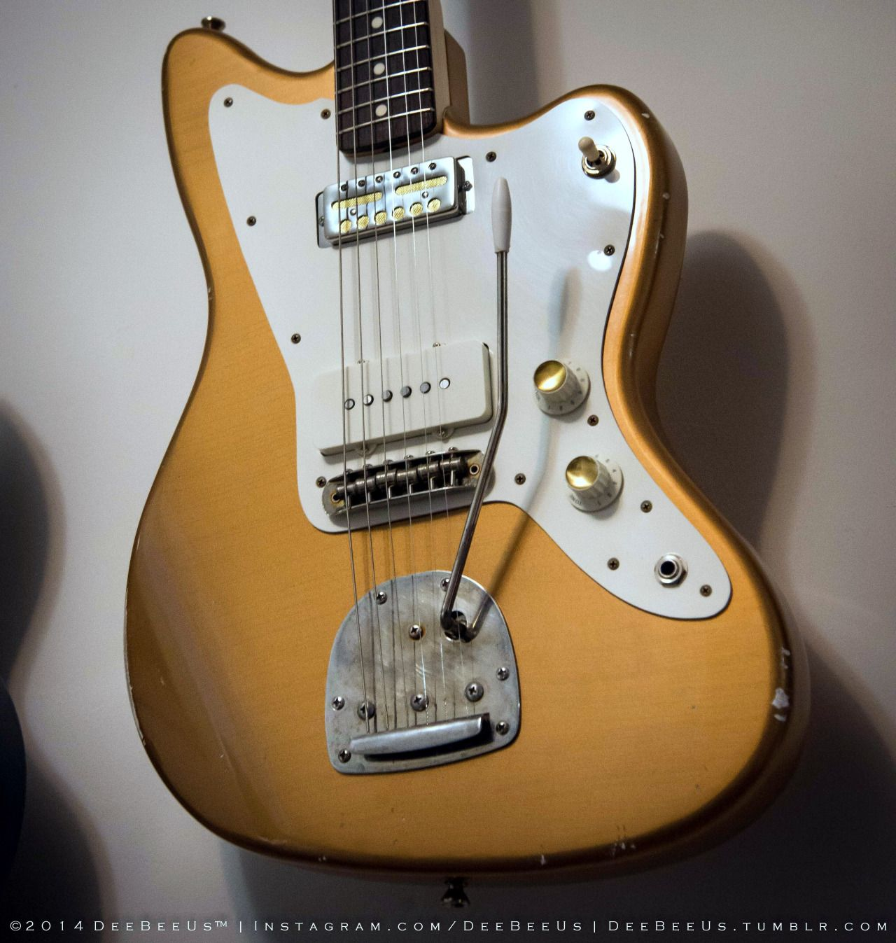 custom Jazzmaster w/ gold foil pickup-someone really wanted a ...