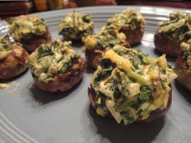 The Low Carb Review: Spinach Stuffed Mushrooms