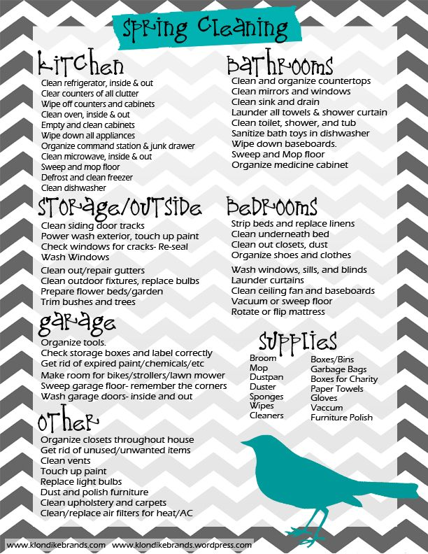 17 Best images about spring summer fall winter checklist on – Sample Spring Cleaning Checklist