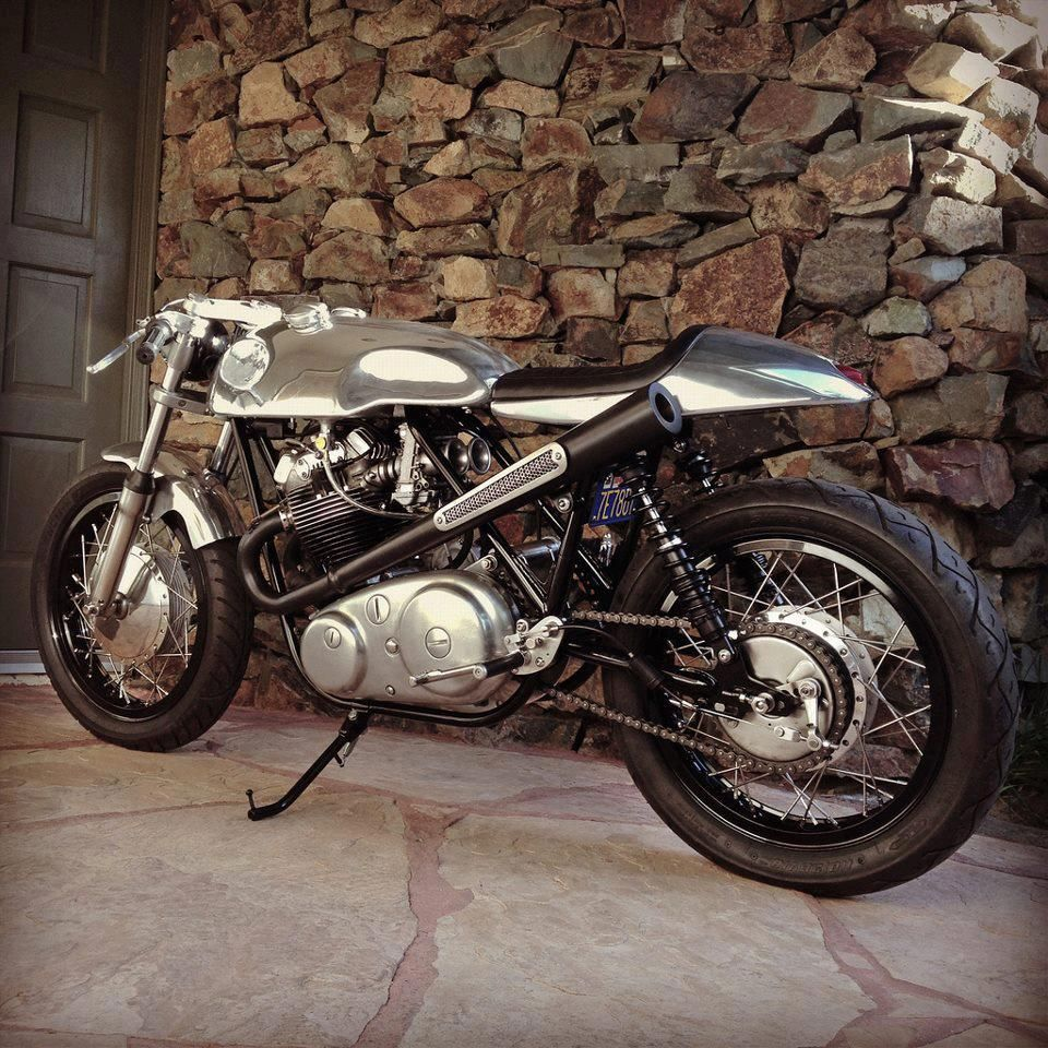 Amazing Lines And A Radical Exhaust On This Custom Norton 750 Commando