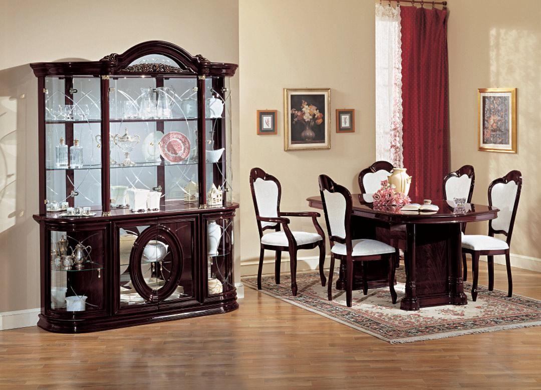 Fancy Ketty Italian Classic Dining Set Classic Dining Room Furniture Classic Dining Room Stylish Dining Room