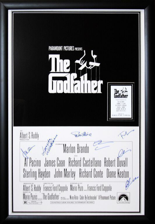 The Godfather Cast Signed Movie Poster #thegodfather | Movie ...
