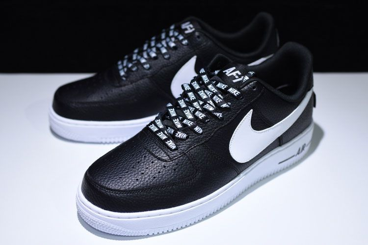 Nike Air Force 1 Low Nba Pack Black White Inherited The Af1 Low Back Shoes Type Retro Dress Leather Tex Latest Fashion Shoes Ankle Sneakers Nike Air Force