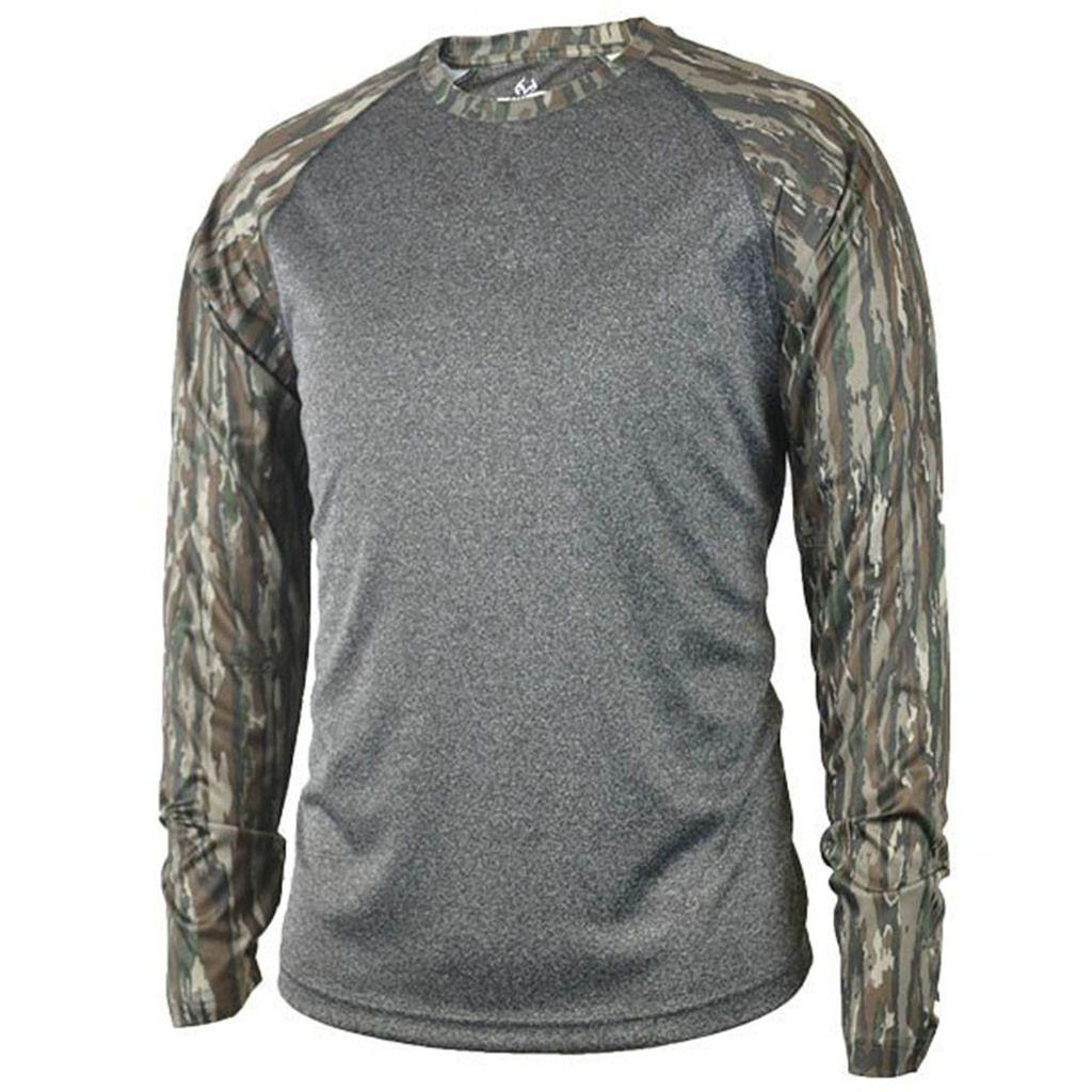 6169cfff Realtree Men's Original Camo Longsleeve Performance Raglan Shirt ...