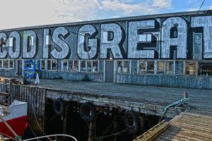 """Cod Is Great"" by Steven Powers – read more @ http://www.juxtapoz.com/Street-Art/qcod-is-greatq-by-steven-powers – #streetart #codisgreat #stevenpowers"