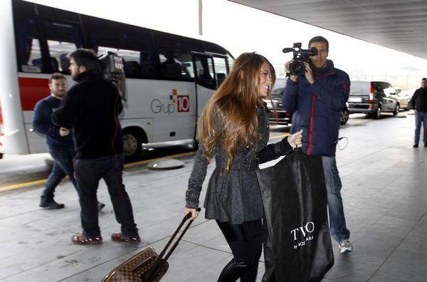Antonela acompaña a Messi en su viaje a Zúrich. Foto: Morata