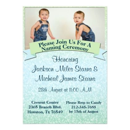 Pastel Baby Naming Ceremony Invite  Invitations Custom Unique Diy