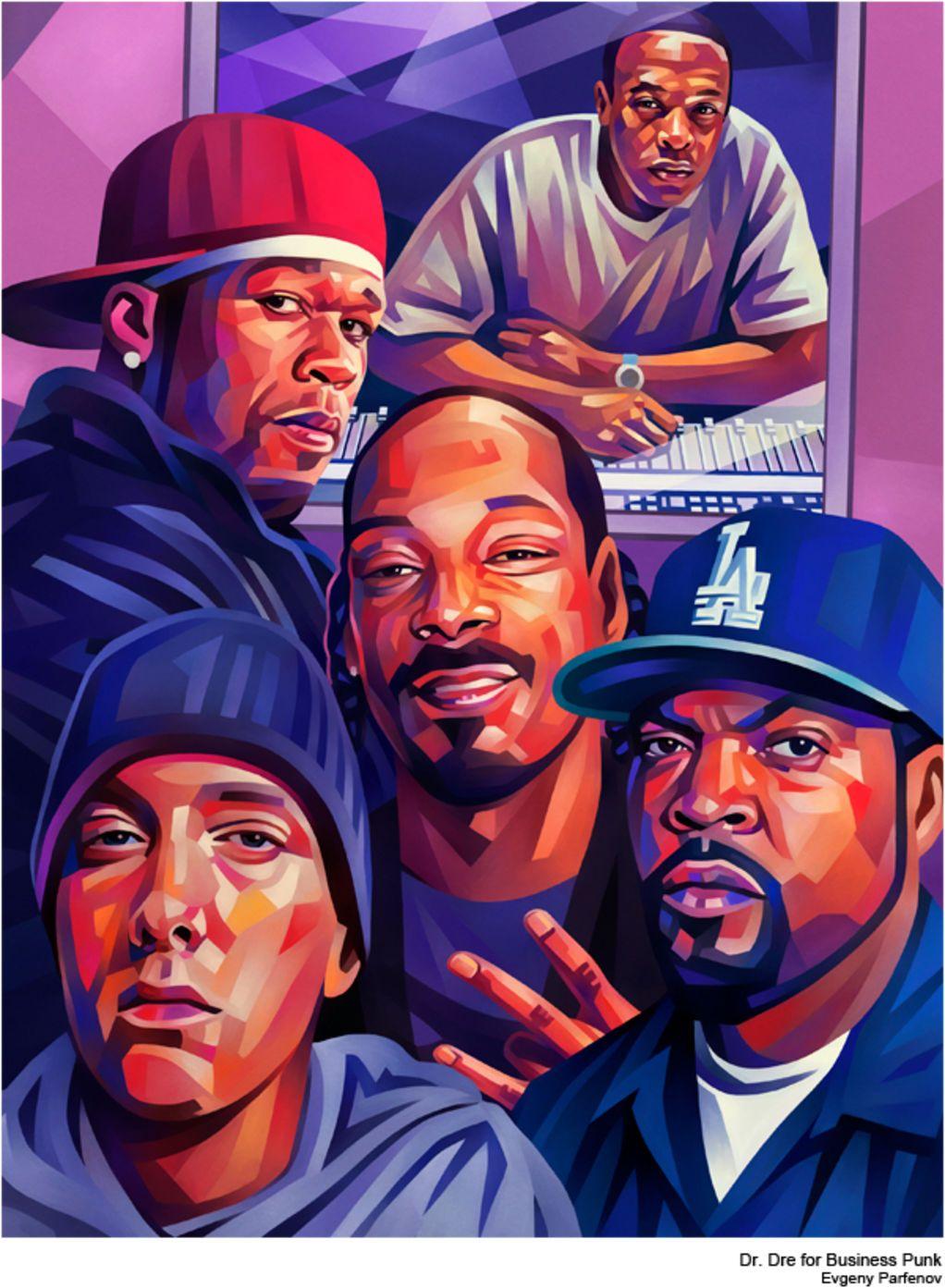 Unique Colourful Portraits Of Celebrities By Evgeny Parfenov Hip Hop Art Hip Hop Artwork Rapper Art