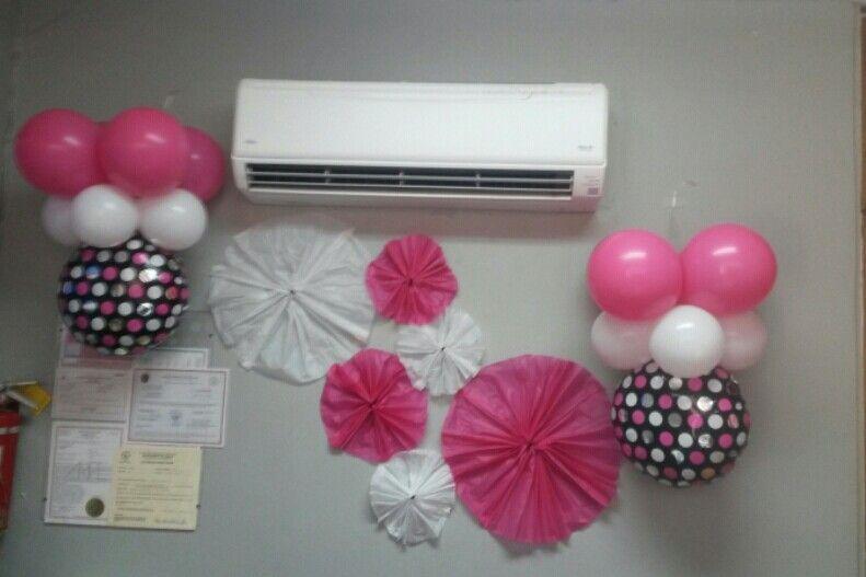 Tissue paper y globos semana de las secretarias