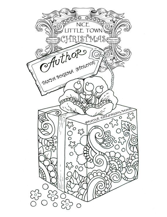 Nice Little Town Christmas (Adult Coloring Book, Printable, Coloring ...