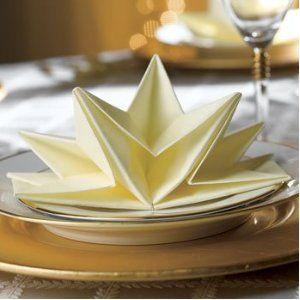 Folded Star Napkins