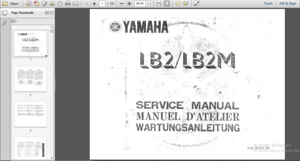 Yamaha Chappy Lb2 Lb2m Digital Workshop Repair Manual Repair Manuals Repair Workshop
