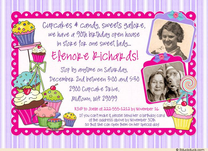 Wording For 90th Birthday Invitations