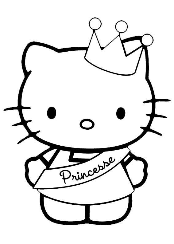 Hello Kitty Princesa Hello Kitty Hello Kitty Para Colorear Y