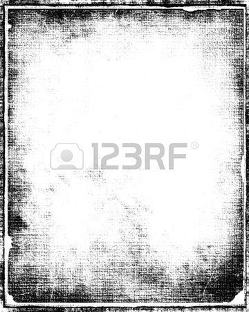 Grunge Border Frame In Black With White Copy Space Grunge Border Photo