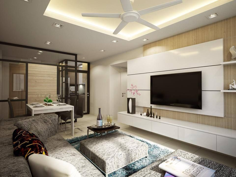 captivating living room tv wall design | HDB Clean, Simple & Evergreen @ Fernvale - Interior Design ...
