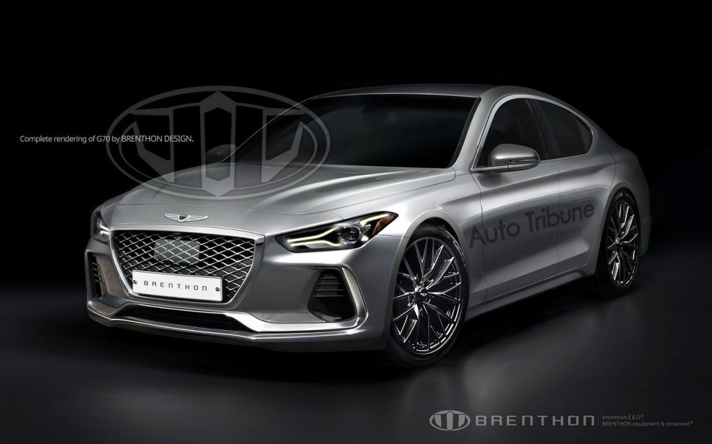 Accurate render of the Genesis G70 (BMW 3 Series rival