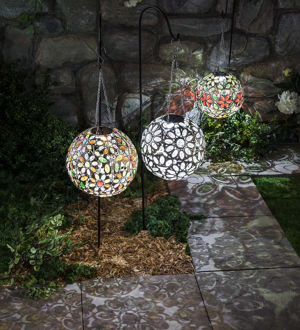 Take A Look Hanging Solar Multi Butterfly Jewel Ball Solar Accents Solar Light Crafts Hanging Solar Lights Solar Garden Lanterns