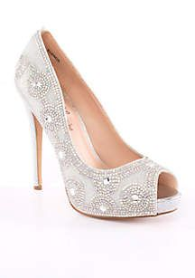Lauren Lorraine Women's Elenor Peep-Toe Pump - - No Size | Peep toe pumps,  Lorraine and Pumps