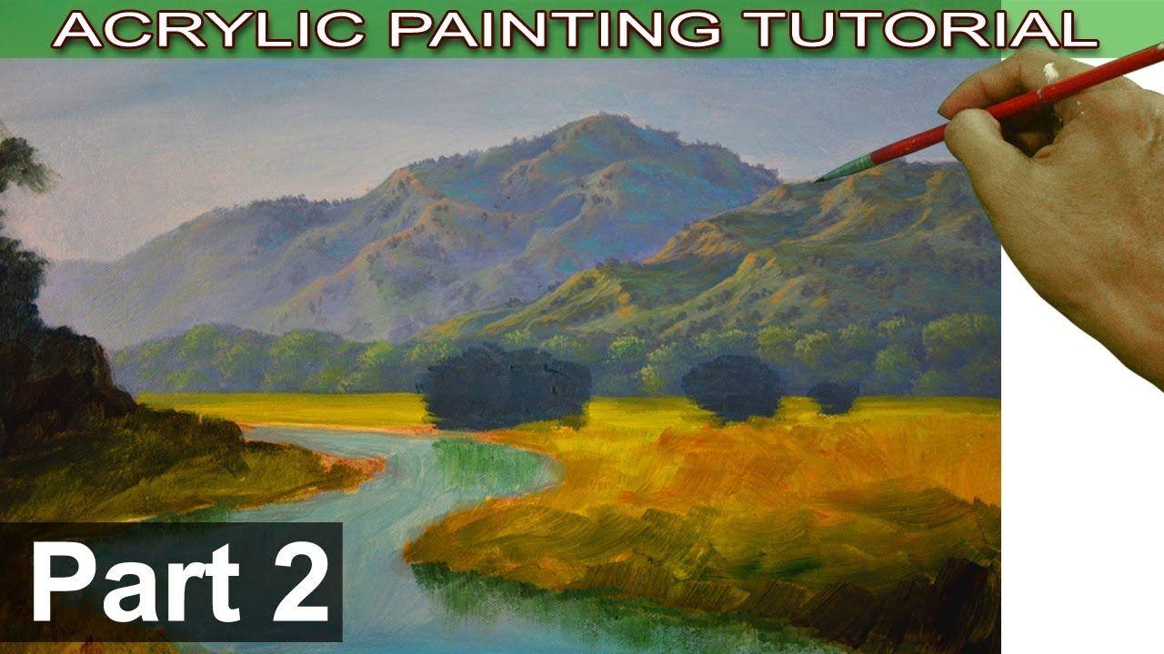 Peaceful Pine Lake Landscape Paintings Acrylic Lake Painting Nature Paintings