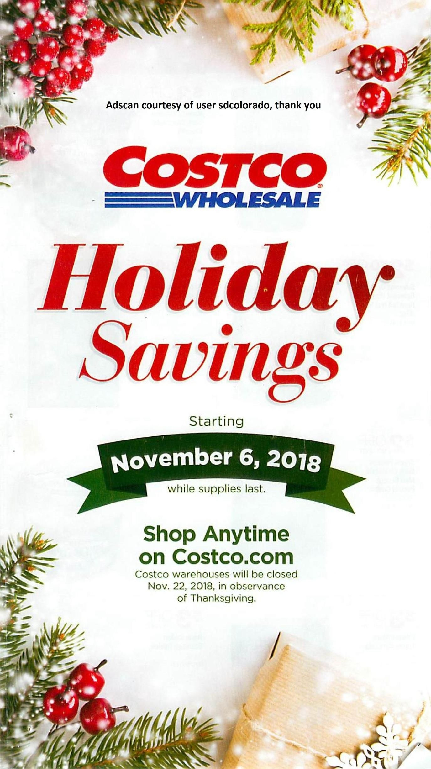 Costco Wholesale 2019 Black Friday Ad Black Friday Ads Holiday
