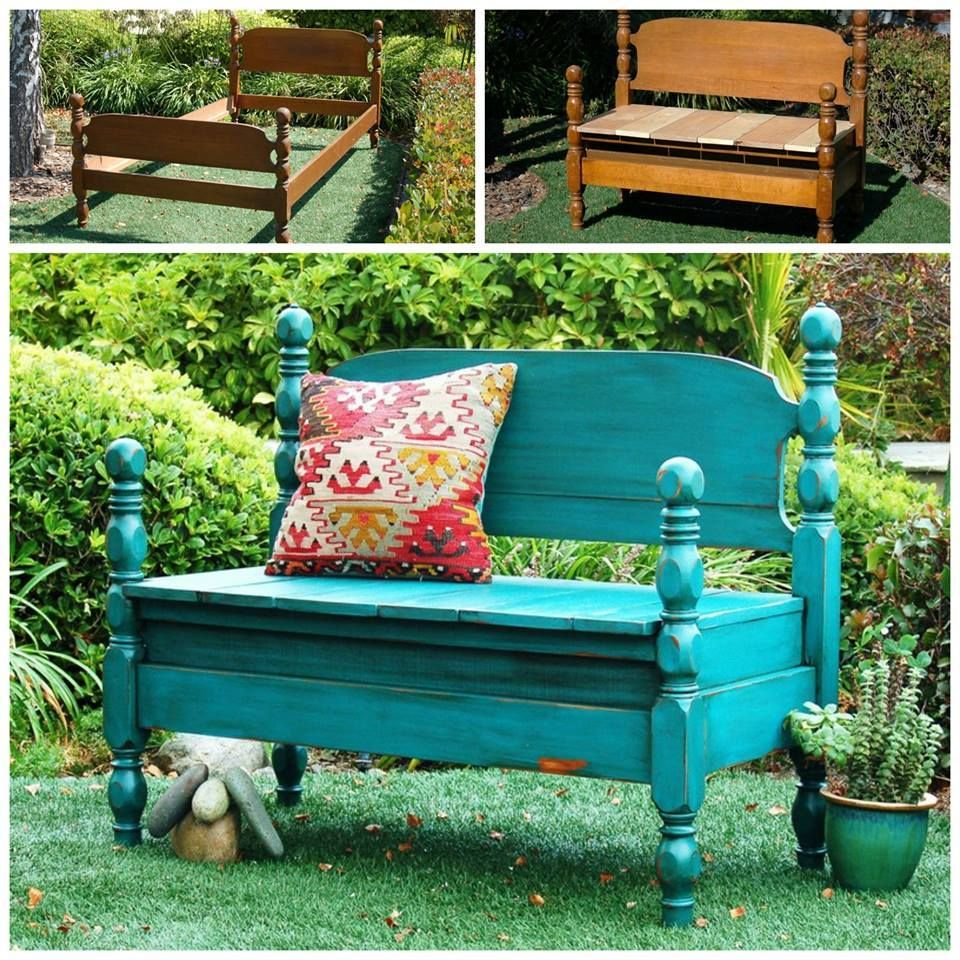 Bed To Bench DIY Upcycle Easy Video Instructions Old bed