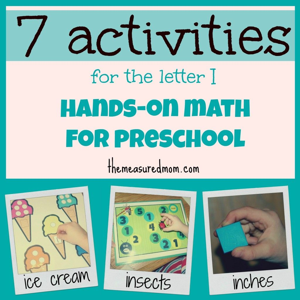 Hands On Math For Preschool The Letter I The Measured Mom Letter Activities Preschool Preschool Letters Letter I Activities [ 1024 x 1024 Pixel ]