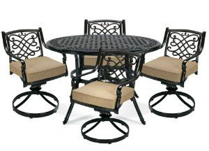 Amazon Camden Patio Dining 5 Piece Setlazboy Outdoor Mesmerizing La Z Boy Dining Room Sets Decorating Design