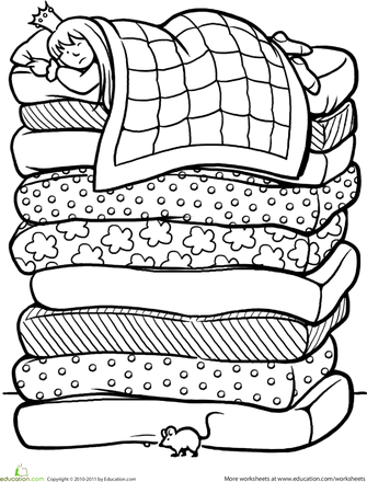 Color The Princess And The Pea First Grade Lesson Plans