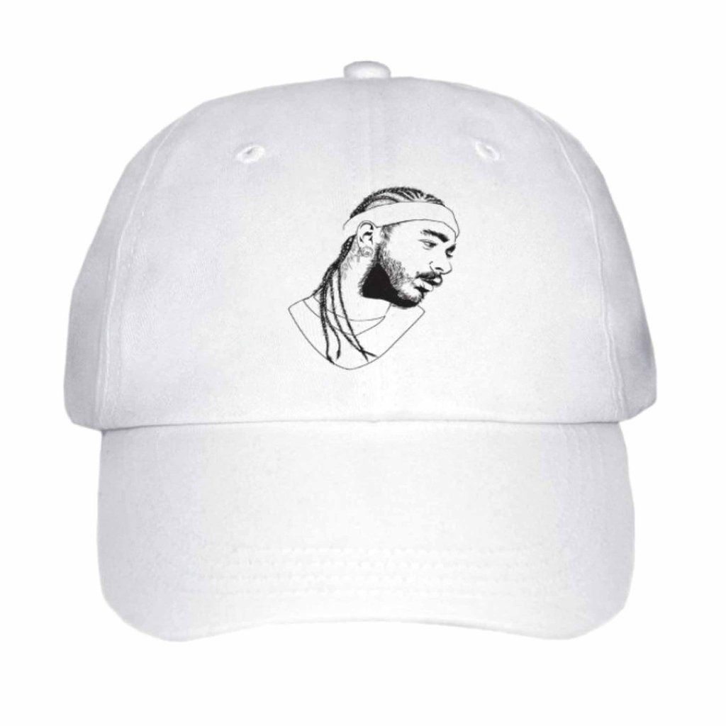 Post Malone White Iverson Stoney White Hat Cap  1b71d617d62b
