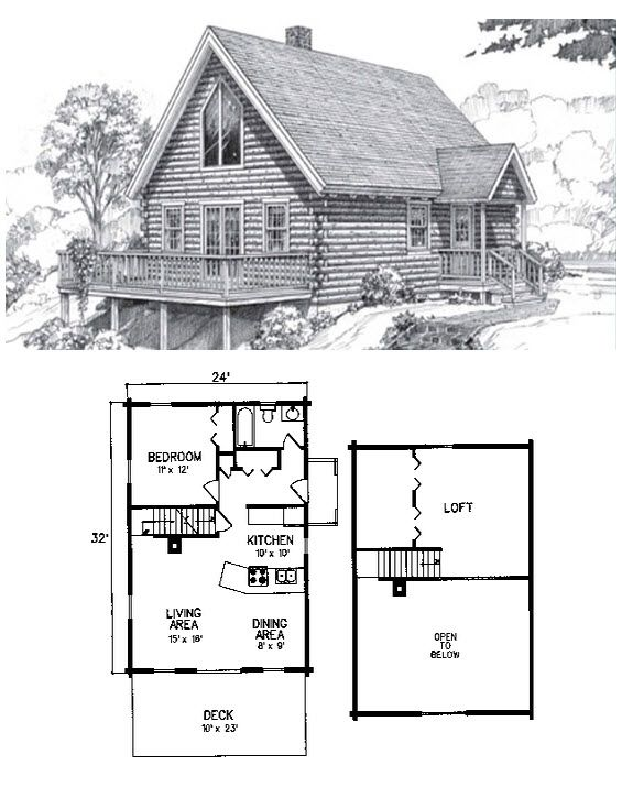 The Kennebago Could Be The Perfect Vacation Home 1 Bed 1 Bath 2 Levels 1128 Sq Ft And A Roomy Open Fl Small Cabin Plans Cabin Floor Plans Log Cabin Floor Plans