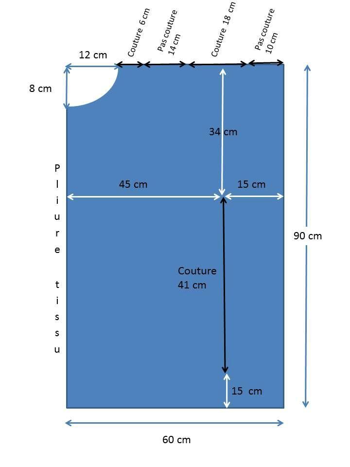 193637b2d437 patron, tunique, paréo, grande taille, 54, 56, 58, 60, coton, ample légère,  été, pas chère, facile, simple, idée