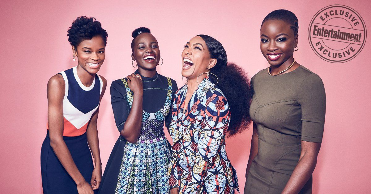 The Women of Black Panther feature in Entertainment Weekly! Letitia Wright, Lupita Nyong'o, Angela Bassett, and Danai Gurira