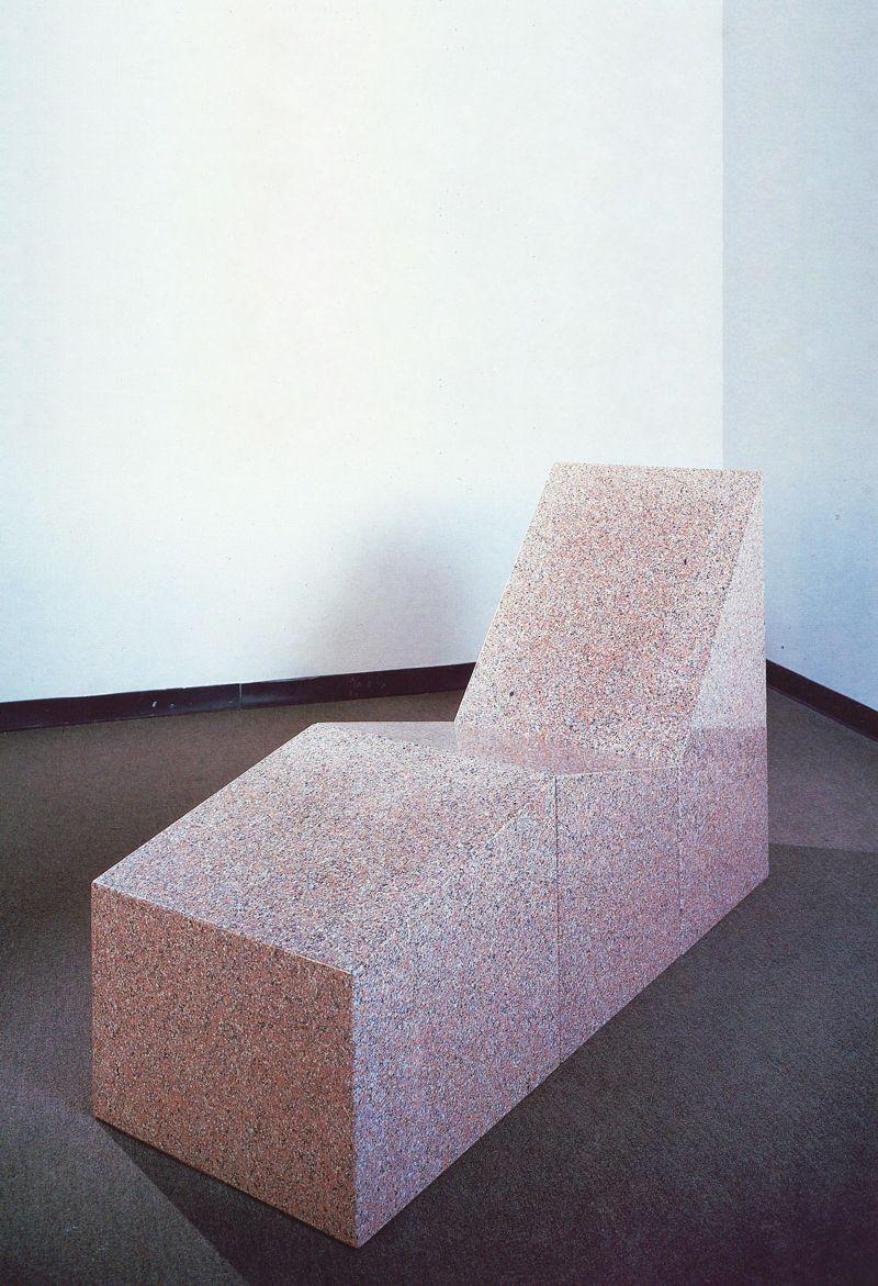 Saatchi Gallery. Scott Burton. Chaise Longue 183 84 Rosa Baveno granite 3  parts 690c93e6eba18