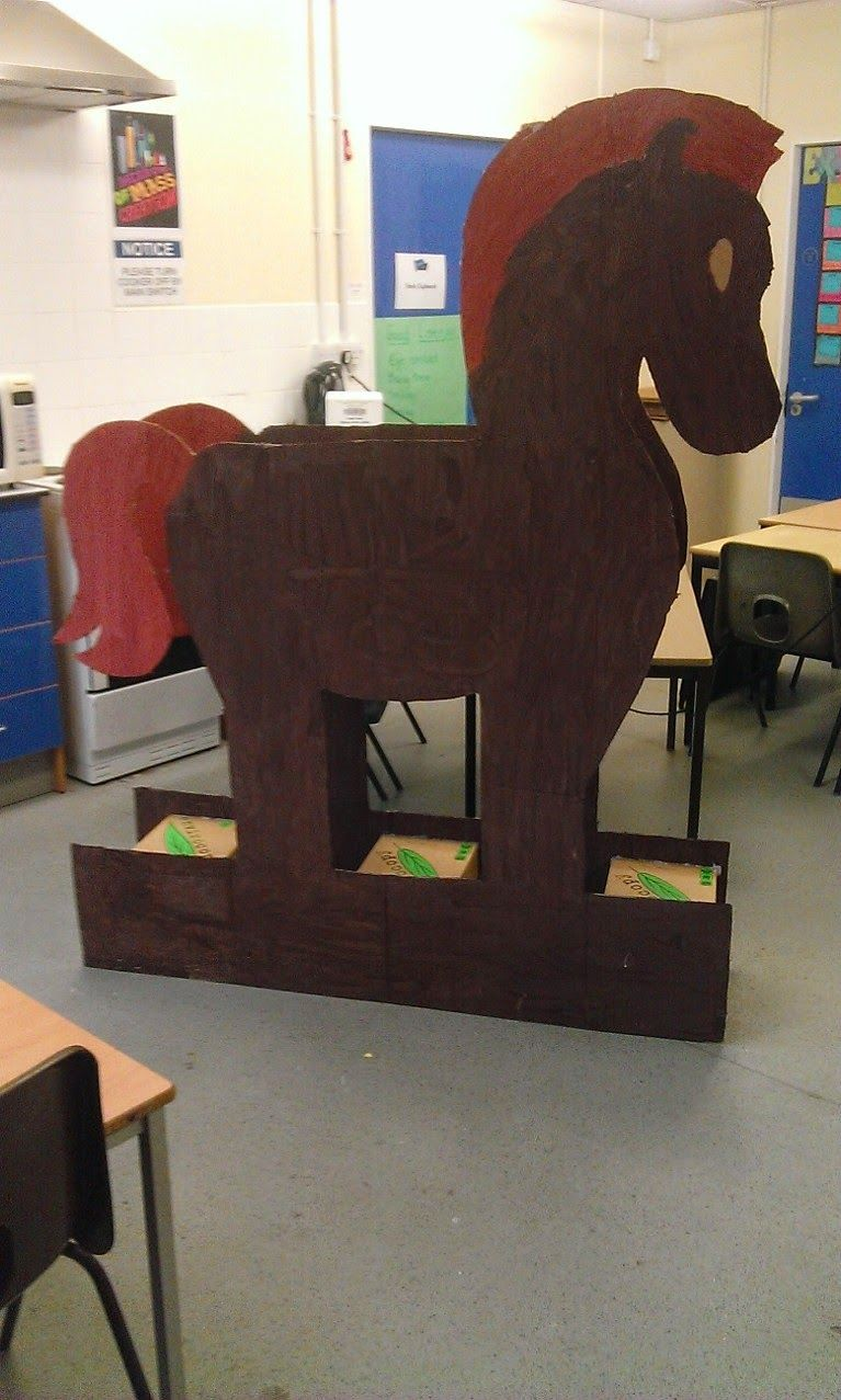 Horse arts and crafts - Primaryart123 Trojan Horse Project For Primary Schools Trojan Horse Template