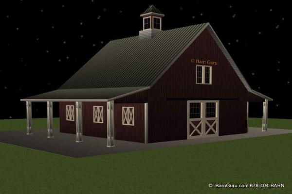 Barn plans with apartment above latest bestapartment 2018 for Gambrel barn plans with living quarters