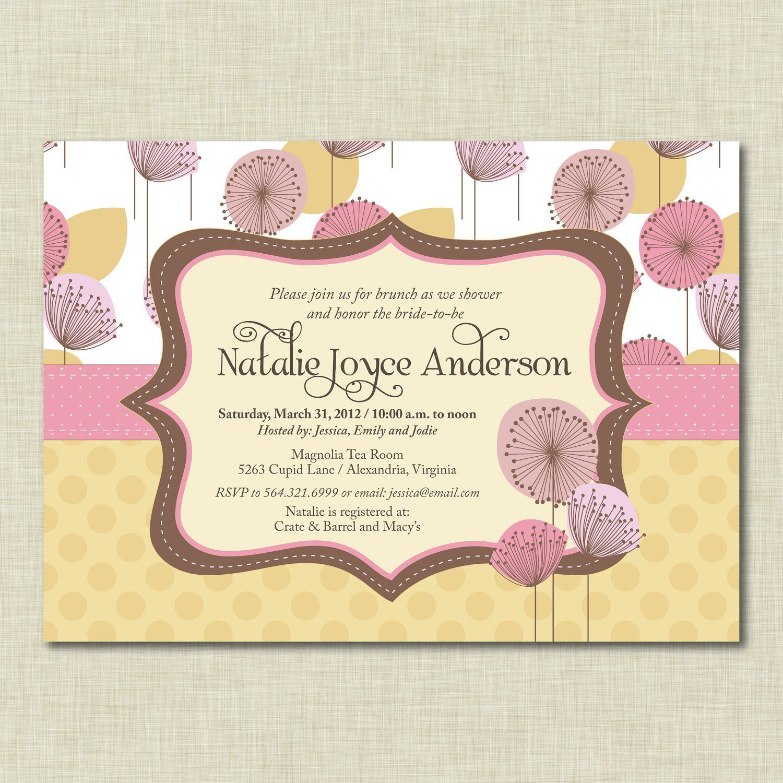 bridal shower brunch invitation sayings