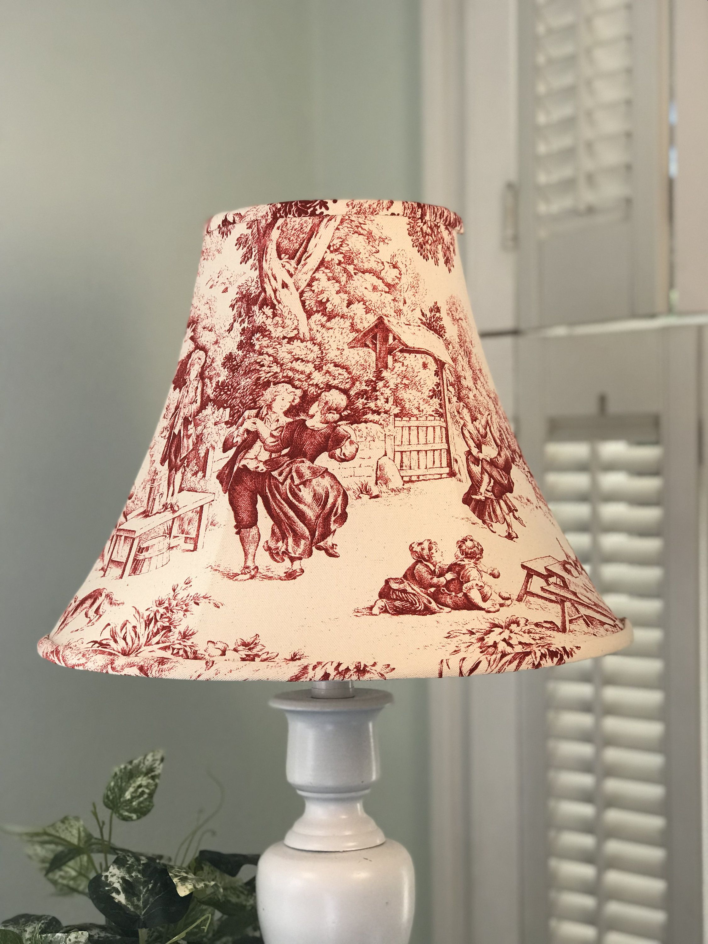 Toile Lamp Shade Red Toile Lamp Shade French Lamp Shade Red Lamp Shade French Toile Lamp Shade Free Shipping In 2020 Red Lamp Shade French Lamp Shades Lamp Shade