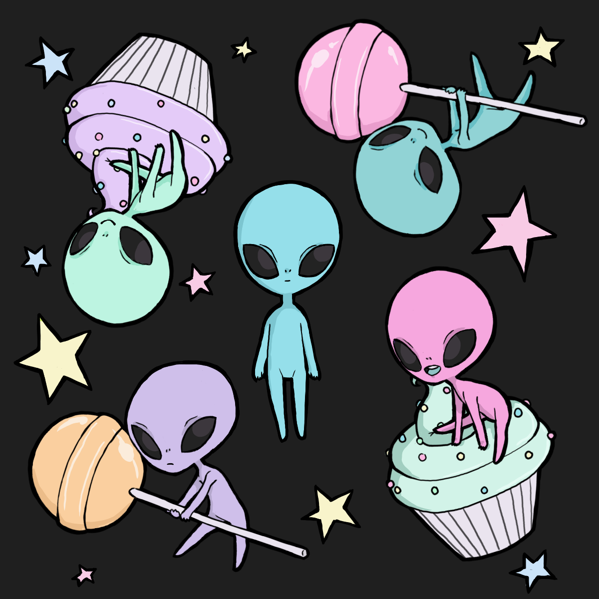 Sugar fueled aliens. Alien drawings, Alien aesthetic