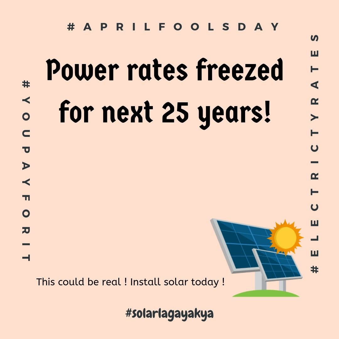 Surely You Can Not Only Freeze Your Electricity Rate Per Unit For Next 25 Years But Also Change Yo Solar Energy Companies Solar Power Plant Plant Installation