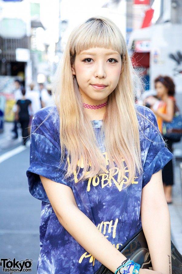 Blond Harajuku Girl x Tattoo Necklace Tokyo Fashion Pinterest - biker chick halloween costume ideas