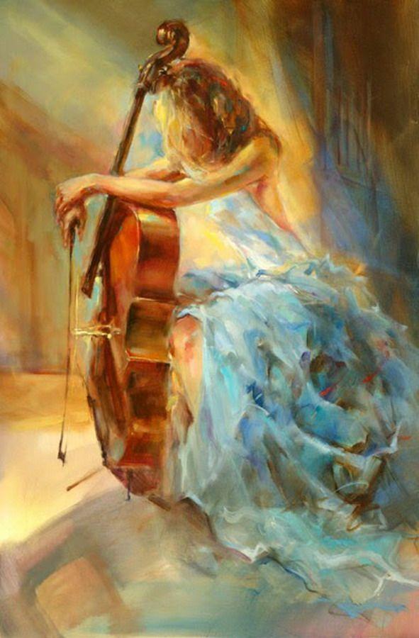 Imágenes Arte Pinturas: Cuadros Musicales Con Mujeres, Pinturas ...