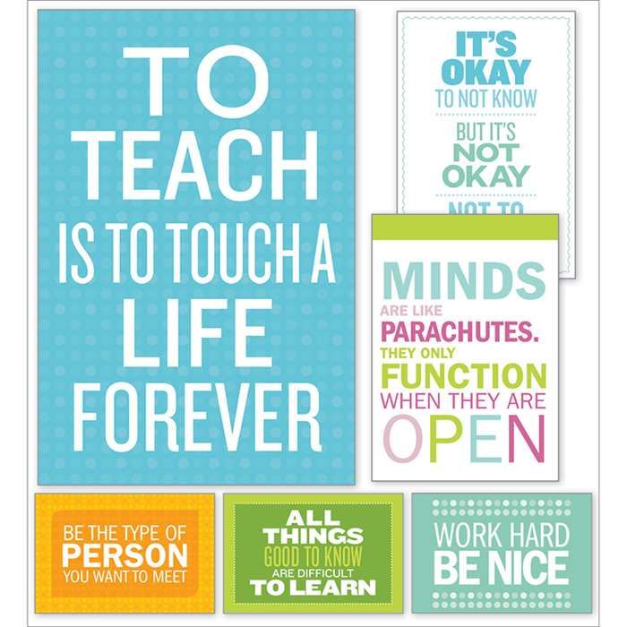 Inspirational Quotes Poster Bulletin Board St Sc 810510 Scholastic