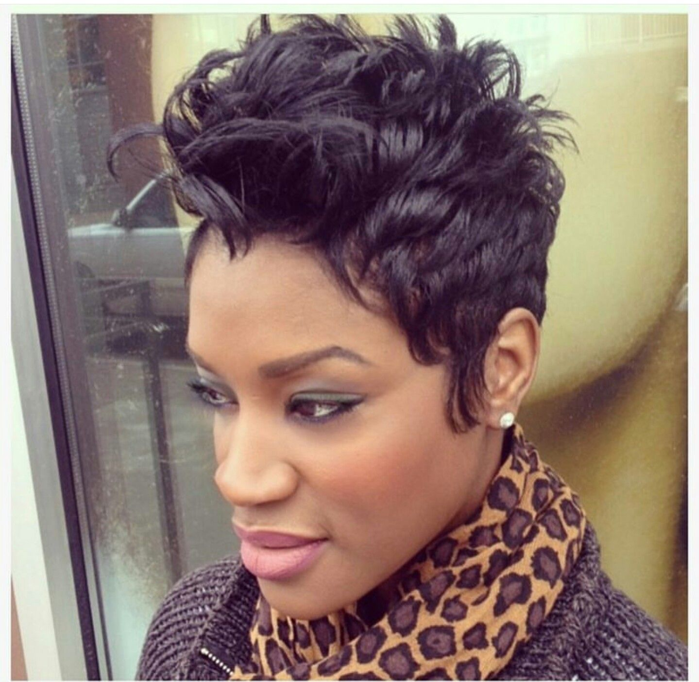 A stylish pixie hairstyle from Najah, Proprietor of Like the River ...