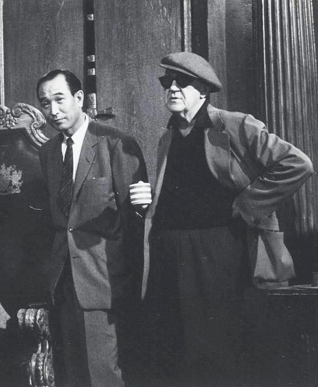 Kurosawa with one of his heroes, John Ford