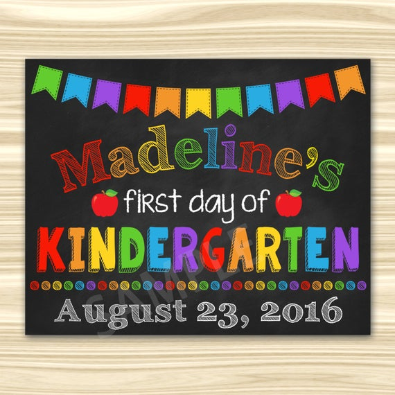 First Day Of Kindergarten Sign. First Day Of School Sign